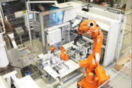 Produktiver Sägen durch Roboteranbindung