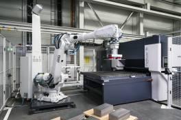 Automatisiert Richten mit präzisem Blick des Roboters