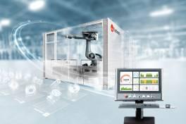 Standardisierte Roboterzelle für ein breites Werkstückspektrum