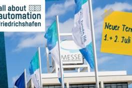 Neuer Termin für die all about automation Friedrichshafen