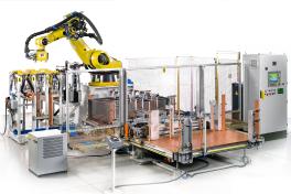 Roboterschweißanlage für die Möbelproduktion
