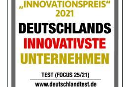 Auszeichnung: eines von Deutschlands innovativsten Unternehmen