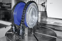 Kettenspanner für Werkstücke mit unregelmäßigen Konturen