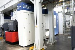 Vier Grob-Universalmaschinen G750 stellen vollautomatisert Kernkomponenten bei Doppelmayr her: