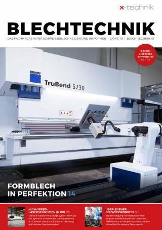 Blechtechnik Ausgabe 5/Oktober 2019
