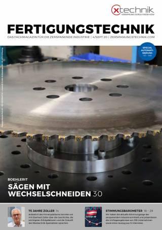 Fertigungstechnik Ausgabe 4/September 2020