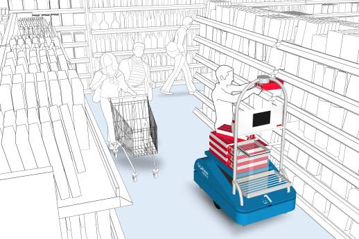 Mobiler Roboter reformiert Supermarkt-Arbeit
