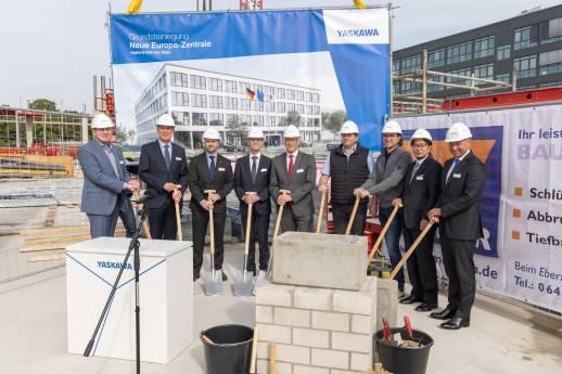 Yaskawa legt Grundstein für neue Europazentrale in Hattersheim