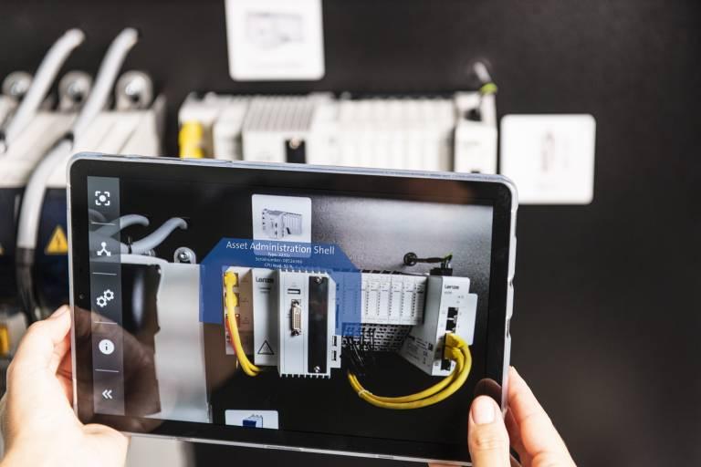 Verwaltungsschale AAS  für die Kreierung eines Digitalen Zwillings - made by Lenze: