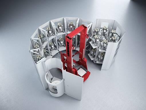 Transportgewichte bis zu 800 kg leistet das Liebherr Rotationsladesystem RLS 800.