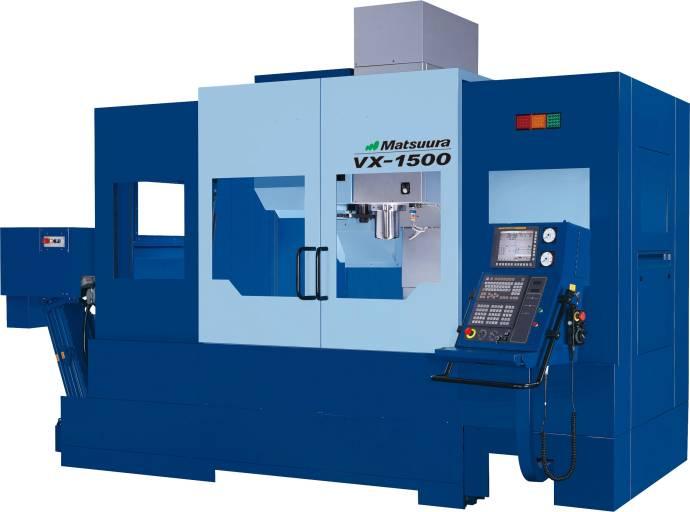 Bei einer Tischgröße von 1.700 x 700 mm verfügt die VX-1500 über eine Ladekapazität von 2.000 kg.