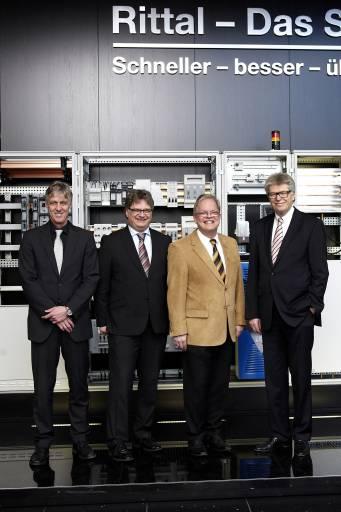V. l.: Dr. Thomas Steffen, Jens von Kiesling, Rolf von Kiesling, Friedhelm Loh.