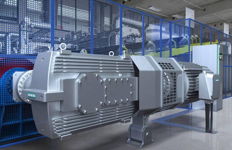 """Integrierte Antriebssysteme von Siemens: Zur Hannover Messe präsentiert Siemens erstmals das Konzept des """"Integrated Drive System"""" (IDS) - ein auf TIA-Basis für nahezu alle elektrischen Antriebsaufgaben umfassend integriertes Portfolio."""