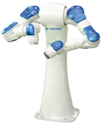 Zusätzlich zu den Frequenzumrichtern, Servoantrieben und Maschinensteuerungen von Yaskawa, gibt es passend die dazugehörige Robotik, die immer mehr zum Einsatz kommt.