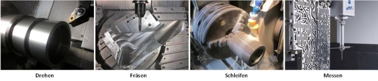 …. sind die Bearbeitungsarten, die von der KML Precision Machining GmbH angeboten werden.