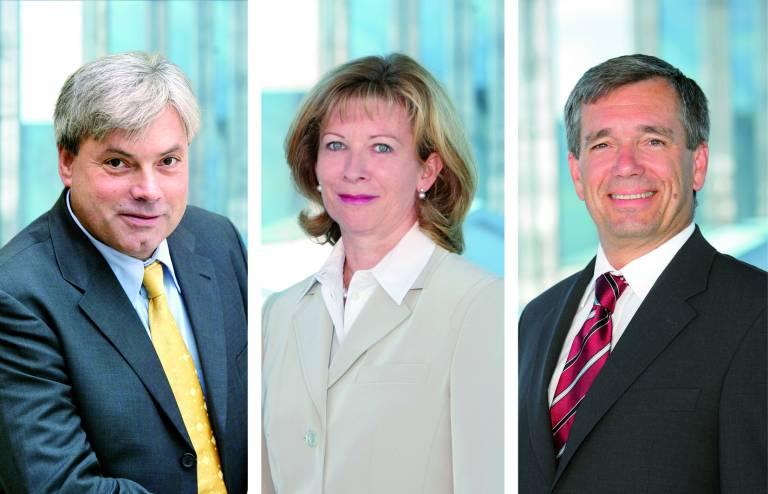 Die SIGMATEK-Geschäftsführung (v.l.n.r.):  Andreas Melkus, Mag. Marianne Kusejko und Theodor Kusejko.