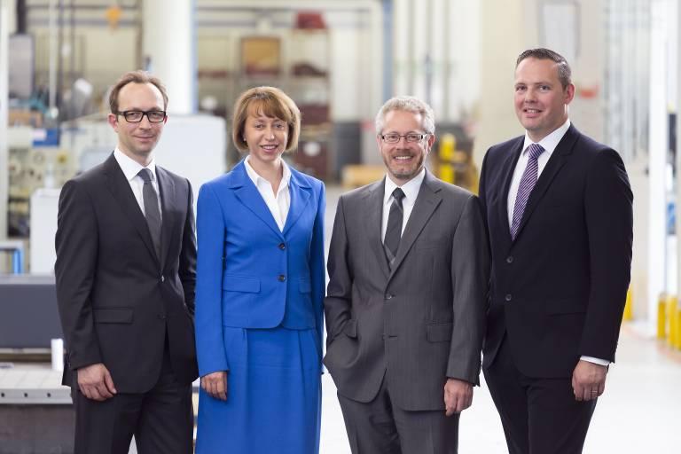 Die Geschäftsleitung der Kaltenbach Gruppe im Bild v. l. n. r.: Christian Dorfhuber, Irene Lange, Valentin Kaltenbach und Matthias Rummel.