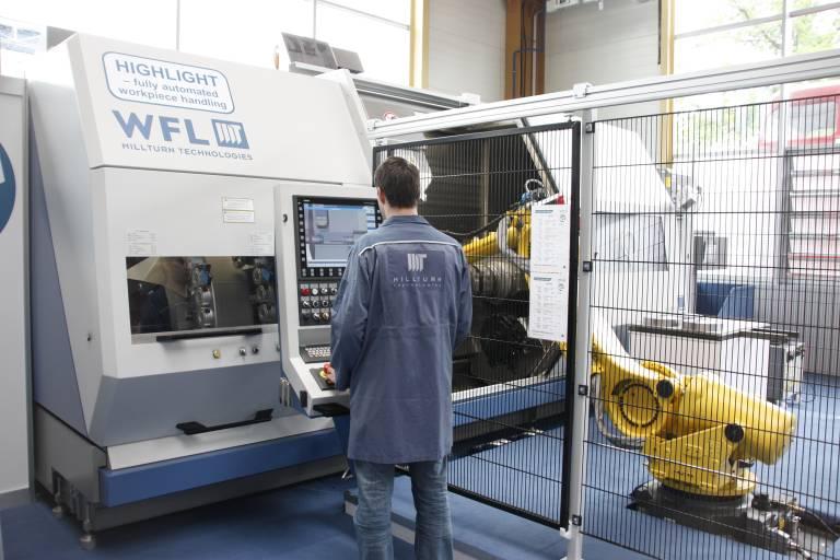 Anlässlich des Technologiemeetings in Linz präsentierte WFL die neue Automatisierungszelle am Beispiel einer M35-G Millturn.