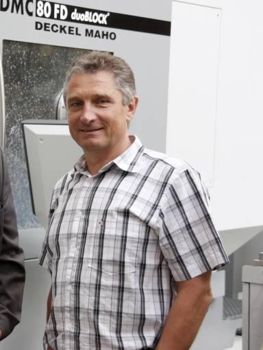 Karl Widmann, Leitung Mechanische Fertigung / Instandhaltung bei Rosenbauer.