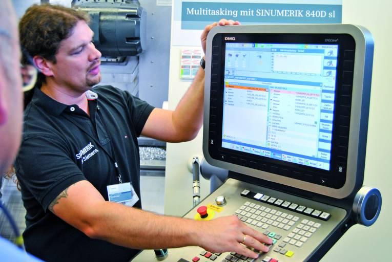 Hohe Dynamik und Genauigkeit bei der Bearbeitung auf Multitasking-Maschinen durch leistungsfähige Hardware-Architektur und intelligente Regelalgorithmen.