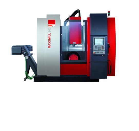 Mit der MAXXMILL 500 bietet EMCO eine neue flexible vertikale CNC-Fräsmaschine für die 5-Achsen-Bearbeitung.