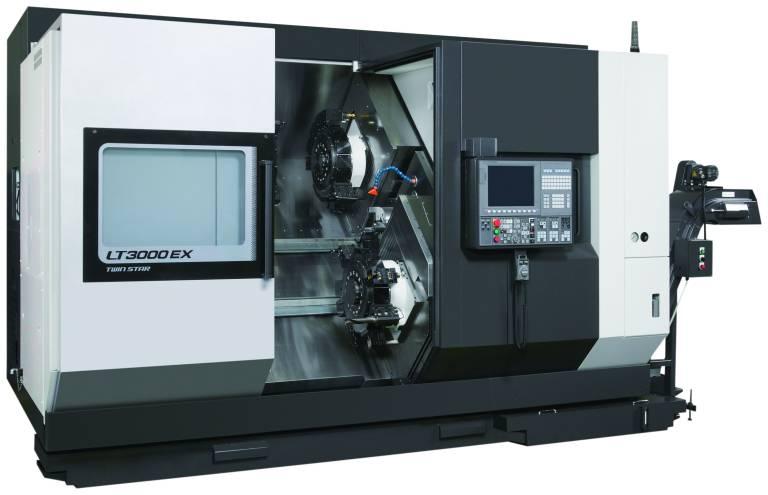 Die LT3000 EX bearbeitet Stangenmaterial von bis zu 69 mm Durchmesser und ist das jüngste Mitglied in der Familie der LT EX Serie von Drehzentren mit Doppelspindel.