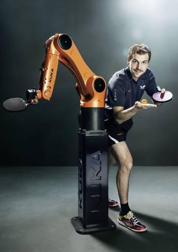 """Der Profi-Sportler Timo Boll freut sich schon auf die Zusammenarbeit: """"Ich bin ein Technik-Freak und die KUKA-Roboter sind ein faszinierendes Produkt: schnell, wendig, präzise und verlässlich."""""""