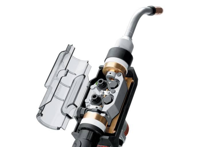 Höhere Ausfallsicherheit als konventionelle Push-Pull-Antriebe bietet der 90 W starke 4-Rollen-Antrieb des Frontpull 7.