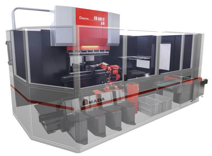 Aufbauend auf der langjährigen Erfahrung mit automatisierter Biegetechnik hat Amada die neue Biegezelle EG-6013 AR entwickelt.