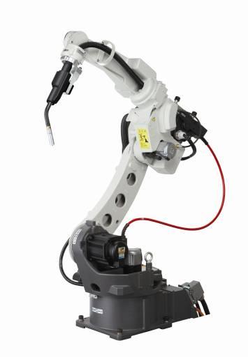 """Die """"Innenliegende Variante"""" mit zentraler Hohlwellenführung und paralleler Verlegung des Schlauchpaketes zum Roboterarm."""