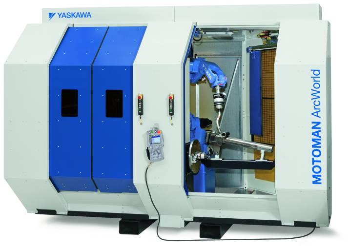 Mit der neuen Motoman ArcWorld erweitert Yaskawa sein Angebot an Roboterschweißzellen um ein ebenso kompaktes wie vielfältiges Modell. (Bild: Yaskawa)