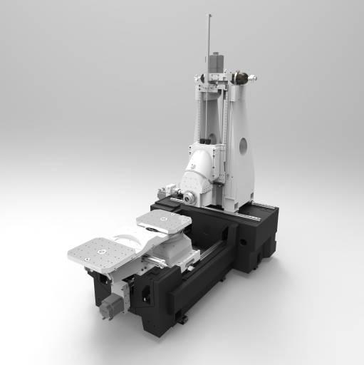 Schwenkbares i-Tüpfelchen: Der optionale neue Schwenkkopf erweitert HEC 500 D und 500 D XXL zu 5-Achs-Horizontal-Bearbeitungzentren. Bild: Heckert
