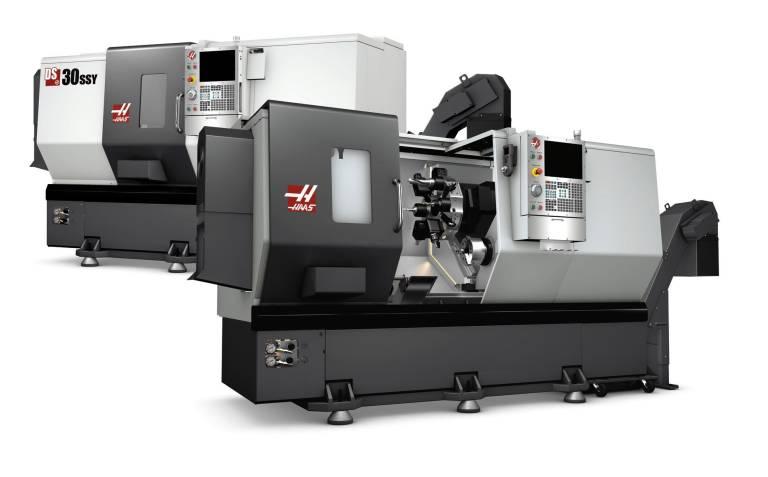 Die Modellreihe DS-30 mit Y-Achse kombiniert die Doppelspindel und Y-Achse mit der C-Achse und angetriebenen Werkzeugen.