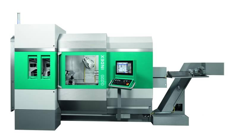 Die G220 ermöglicht leistungsfähiges Drehen und Fräsen in einer Maschine.