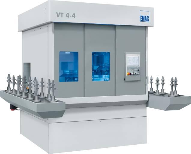 Die VT 4-4 ist eine 4-achsige Wellendrehmaschine für Wellen bis 1.050 mm Länge und 200 mm Durchmesser.