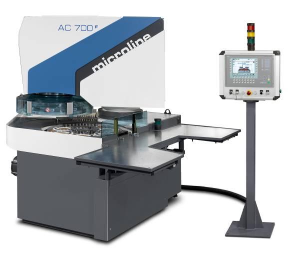 Die von Peter Wolters neu überarbeitete Bedienoberfläche bietet dem Maschinen-Einrichter wie auch dem Bediener höchstmöglichen Komfort bei der Arbeit mit der AC 700-F.