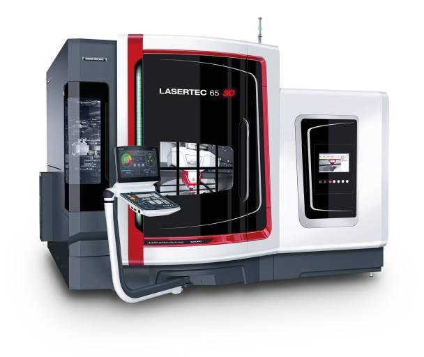 DMG MORI präsentiert mit der LASERTEC 65 3D eine CNC-Maschine, die das generative Laserauftragsschweißen in eine vollwertige 5-Achs-Fräsmaschine integriert.