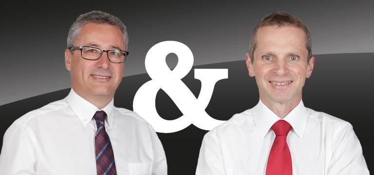 Die Jubilare: Ing. Harald Taschek und Ing. Peter Gruber, Geschäftsführer der T&G Automatische Datenverarbeitung GmbH.