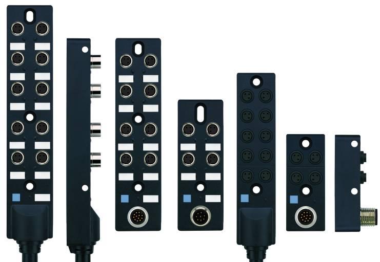 Neue M8x1-Passivverteiler von Escha in kompakter Bauform und mit flexiblen Befestigungsmöglichkeiten. Fotoquelle: Escha