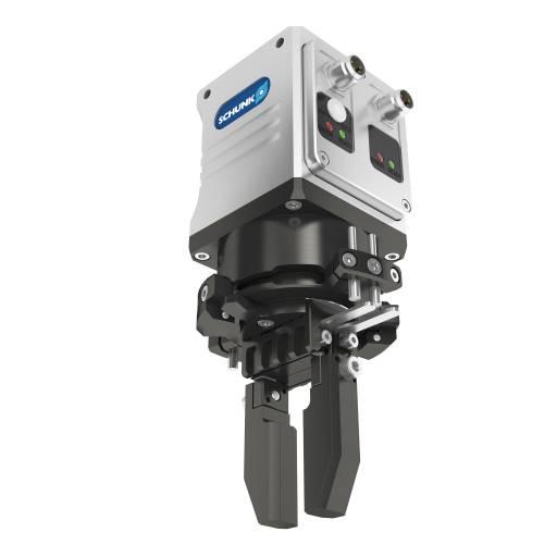 Die kompakte elektrische Greif-Schwenkeinheit Schunk EGS wurde mit dem iF DESIGN AWARD 2015 ausgezeichnet.