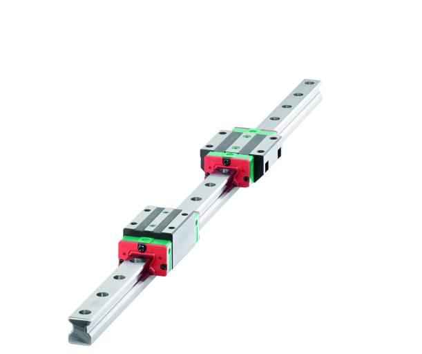 HIWIN bietet die RG-Profilschienenführungen jetzt auch in den  Baugrößen 15 und 20 mm an.