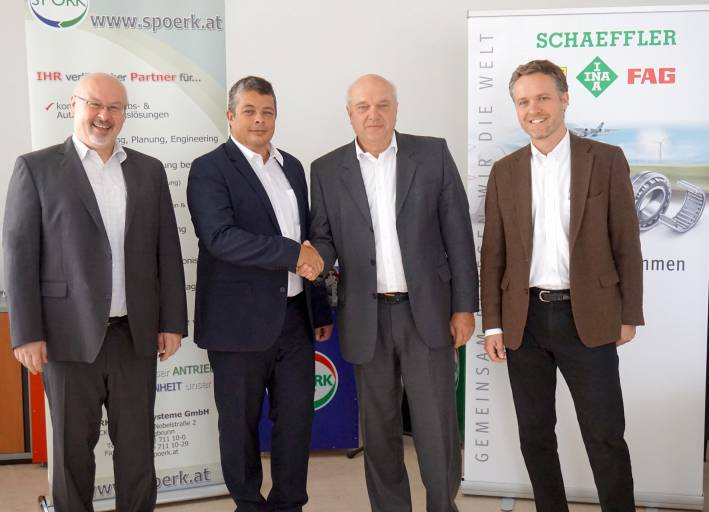 v.l.n.r.: DI Werner Enöckl, MBA; Mag. Oliver Lödl, MBA; Mag. Wolfgang Schwarz; DI Thomas Hopfner.