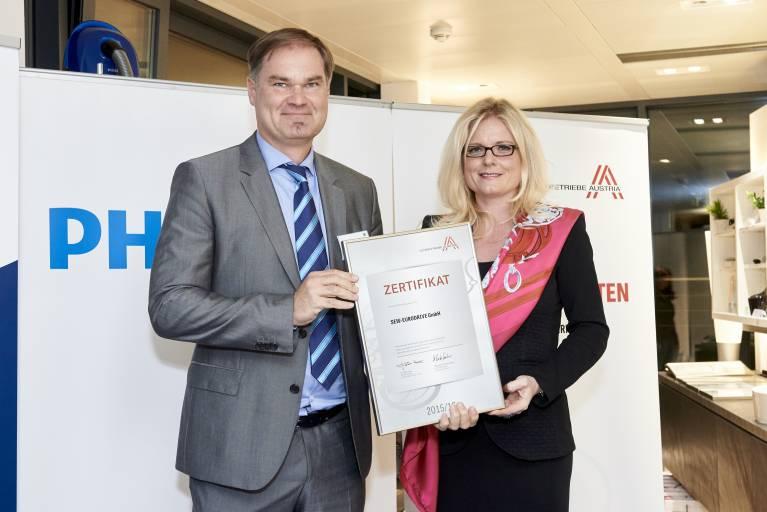V.l.n.r.: DI Wilhelm Hofmann MBA, Mag. Monica Rintersbacher