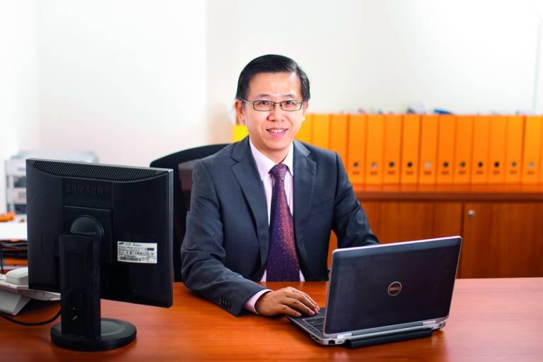 Geschäftsführer Mark Meng leitet die 25. Tochtergesellschaft von B&R in Singapur.
