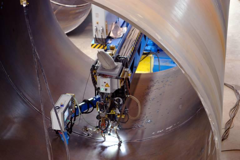 Innenrohrdurchmesser von über 4.000 mm bieten genügend Raum für die UP-Einrichtung zum Innennaht-Schweißen.