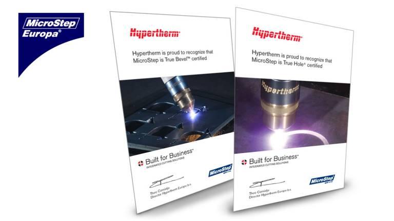 Die MicroStep Group wurde von Hypertherm offiziell zertifiziert.