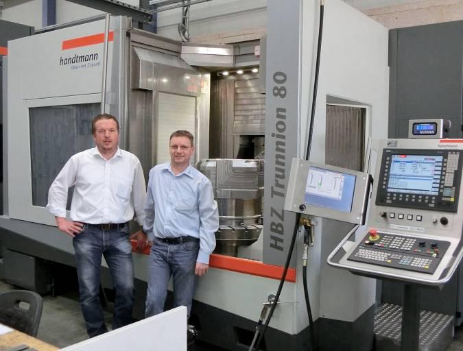 Laro NC-Technik GmbH: Geschäftsführer Elmar Müller und Produktionsleiter Markus Meschenmoser.