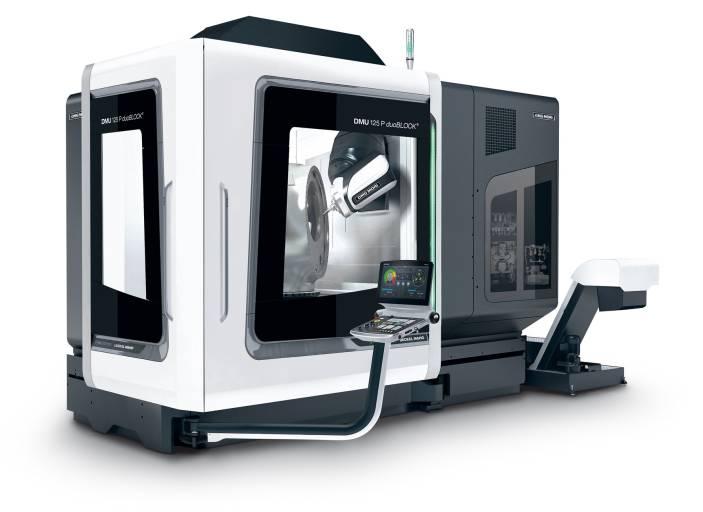 Der große, kubische Arbeitsraum der DMU 125 P duoBLOCK® mit 1.250 mm in X- und Y-Richtung sowie der Z-Weg von 1.000 mm ermöglicht die Bearbeitung von Werkstücken bis Ø 1.250 x 1.600 mm und max. 2.500 kg.