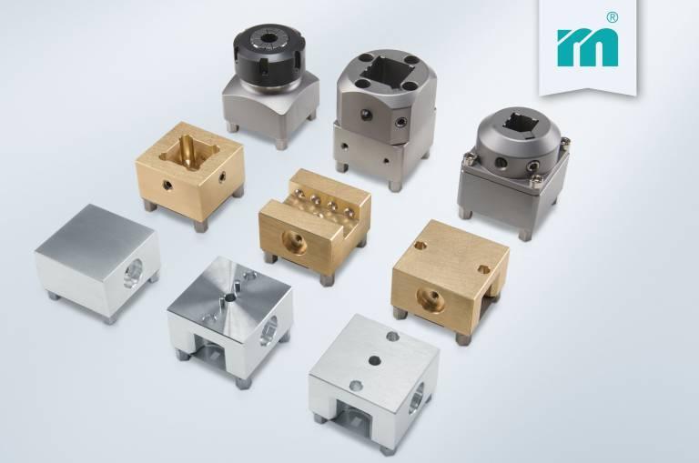 Neu bei Meusburger – Elektrodenhalter aus Stahl, Messing und Aluminium. Foto: Meusburger