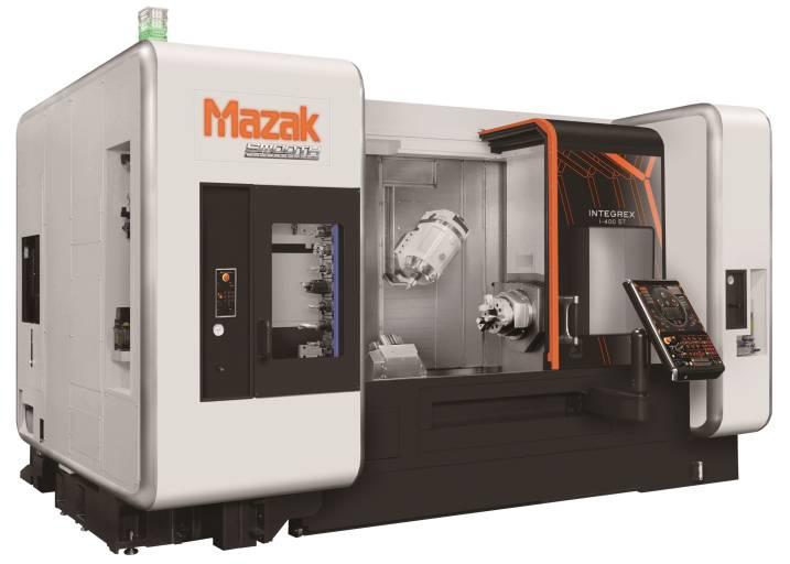 Auch die Multi-Funktions-Maschine INTEGREX i-400 der neuesten Generation profitiert von der neuen Steuerung MAZATROL SmoothX.